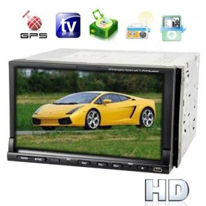 2-DIN 7 Inch TFT LCD Touchscreen Car DVD Player System - GPS Navigator