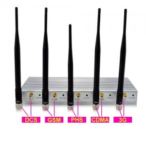 5 Antenna Cell Phone Jammer with Remote Control (3G,GSM,CDMA,DCS)