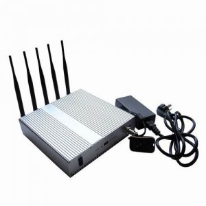 5 Band Cellphone WIFI signal Jammer with Remote Control+Omnidirectional Antennas