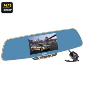 Ordro T2 1080P Car DVR - 5 Inch LCD Screen, 170 Degree Wide Angle Lens, Rearview Mirror, G-Sensor,1/4 Inch CMOS Sensor