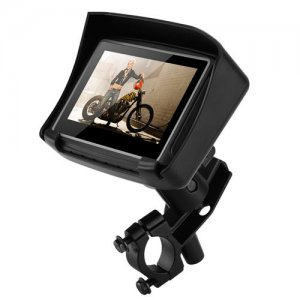 Motorbike GPS Navigation - IPX7 Waterproof, 4.3 Inch Touch Screen, 8GB Memory, Micro SD Card Slot, Mounting Brackets