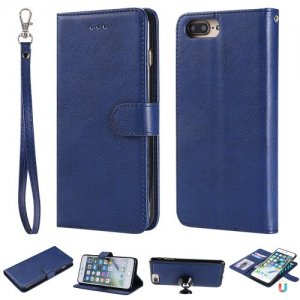For Iphone 8 Plus Case Magnetic 2 in 1 Detachable Folio Cover For IPhone 7 Plus - BLUE