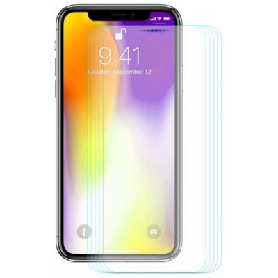 Hat - Prince 0.26mm 9H 2.5D Arc Tempered Glass Full Screen Protector for 6.5 inch iPhone XS Max 5pcs - TRANSPARENT