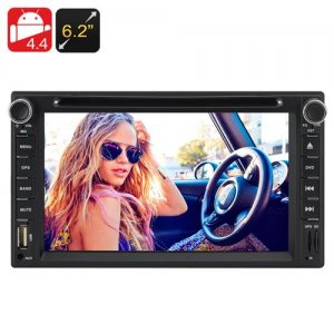 2 DIN 6.2 Inch Touchscreen Car DVD Player - Dual Core CPU, 1GB RAM, Android 9.1, 3G Support, WIFI Bluetooth FM GPS