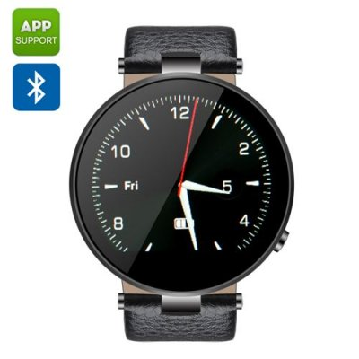ZGPAX S365 Bluetooth Smart Watch - SMS + Notification Function, Sleep Monitor, Sedentary Reminder, Pedometer, Anti Lost (Black)
