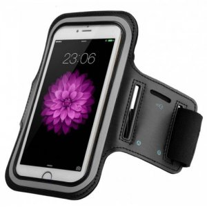 Sports Armband Waterproof Case Cover for iPhone 6 - 6S - BLACK