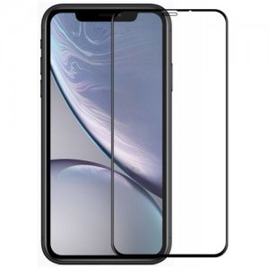 Hat - Prince 6D 0.26mm 9H Tempered Glass Full Screen Protector for iPhone XR - BLACK
