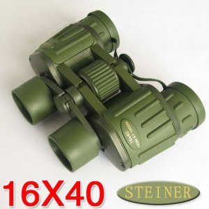 Army green 16 x 40 Binocular Telescopes with Rubber Shell