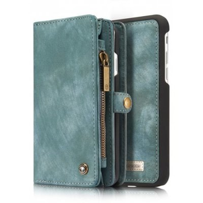 Genuine Leather 11 Card Slots Detachable Wallet Case for iPhone 12 - 8 - GREEN
