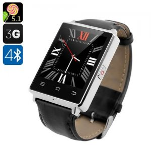 NO.1 D6 3G Smart Watch - 1.63 Inch Display, Android 9.1, Bluetooth 4.0, GPS, Wi-Fi, Heart Rate, Pedometer (Silver)