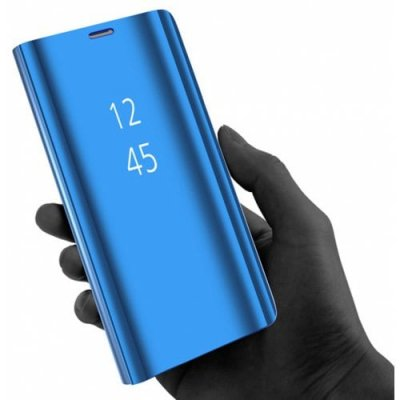 Plating Mirror Flip Phone Case View Smart Cover for Samsung Galaxy Note9 - DODGER BLUE