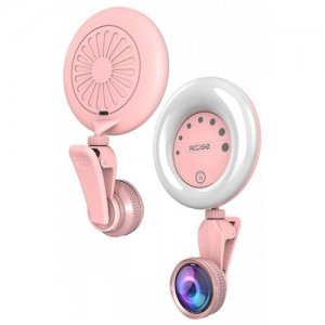 Touch Control Selfie Toning Flash LED Fill-in Light - PINK