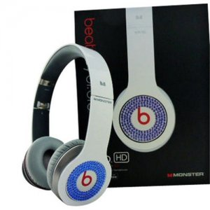 Beats By Dr Dre Solo Blue Diamond Headphones White