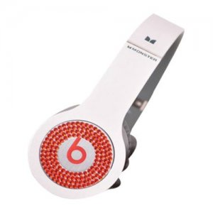 Beats By Dr Dre Solo Red Diamond Headphones White