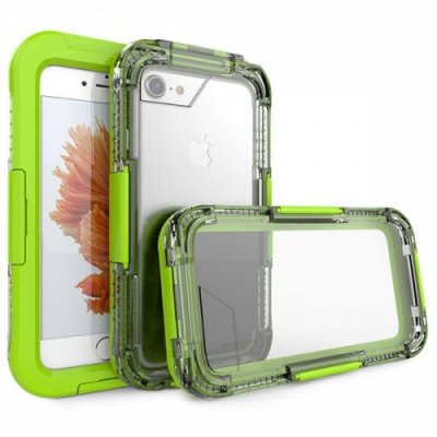 Waterproof Shell Swimming Diving Waterproof Case for iPhone 12 - 8 Waterproof Phone Case - GREEN