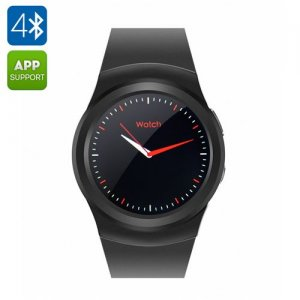 No.1 G3 Smart Phone Watch - BT4.0, Heart Rate Monitor, Pedometer, Anti Lost, GSM SIM Slot, iOS + Android App (Black)