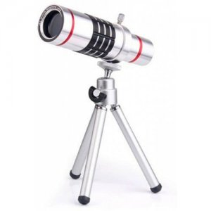 12X Optical Zoom Telescope Mobile Phone Lens for iPhone 12 12 Pro Max with Min - SILVER