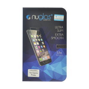 NuGlas Tempered Glass Privacy Screen Protector for iPhone 7 Plus/8 Plus (2.5D)