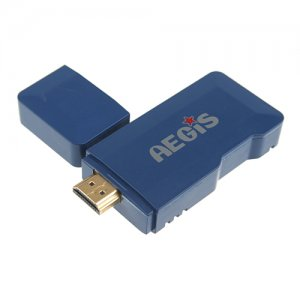 MTB007 Mini Android PC Android TV Box Android 9.1 Tcc8920 HDMI TF 4GB- Blue