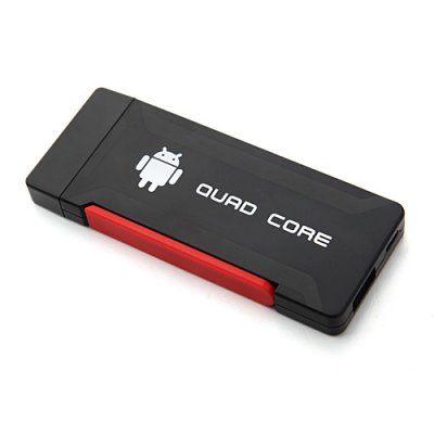 Hi719 Quad Core Mini Android TV Box TV Dongle RK3188 Dual Antenna Bluetooth 2GB 8GB Android 9.1-Black