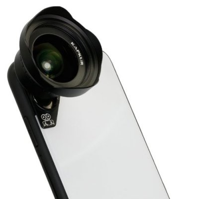 KAPKUR 0.6X Wide Angle Lens for iPhoneXS MAX for Construction and Large Landscap - BLACK