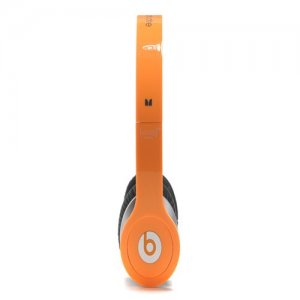 Beats By Dr Dre Solo High Definition Over-Ear Orange Headphones with Built-In Mic