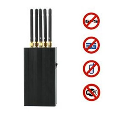 5 Antenna Portable Cell phone & WI-Fi & GPS L1 Jammer