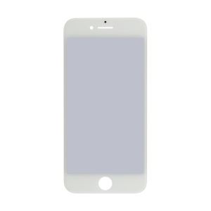 iPhone 7 Glass Lens Screen, Frame, OCA and Polarizer Assembly (CPG) - White