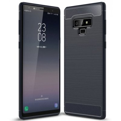 ASLING Carbon Fiber TPU Back Cover Case for Samsung Galaxy Note 9 - CADETBLUE
