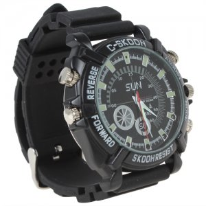 32GB HD 1080P Night Vision Waterproof Watch Camera 1920 x 1280 30 FPS