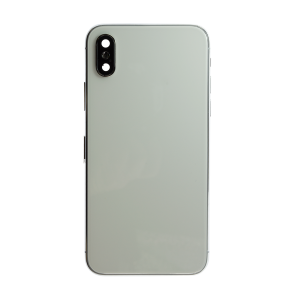 iPhone X Back Cover and Housing with Pre-installed Small Components - Silver (No Logo)
