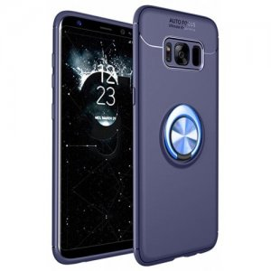 Cover Case for Samsung Galaxy S8 Ring Stealth Kickstand 360 Degree Rotating Grip - SAPPHIRE BLUE