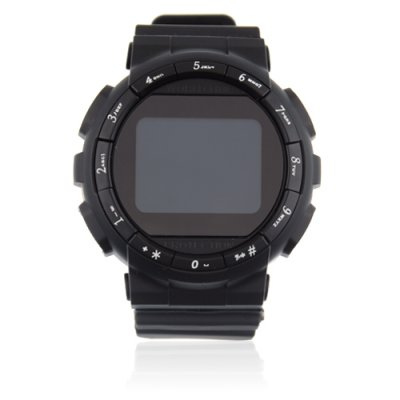 GD920 Quad Band Bluetooth Camera 1.5 Inch Touch Screen Cellphone Watch Phone-Black