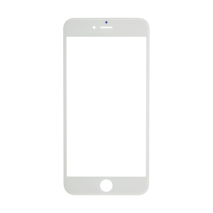 iPhone 6 Plus Glass Lens Screen and Front Frame - White (Hot Melt Glue)
