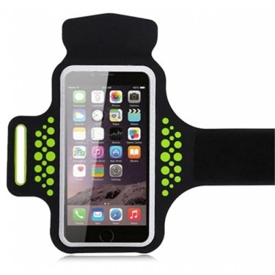 Running Sports Armband for iPhone 12 Phone Strap Case - GREEN