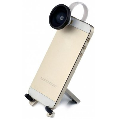 Portable Smart Phone Clip 0.4 Wide Angle Camera Lens for Android - iOS Phone - iPad - SILVER