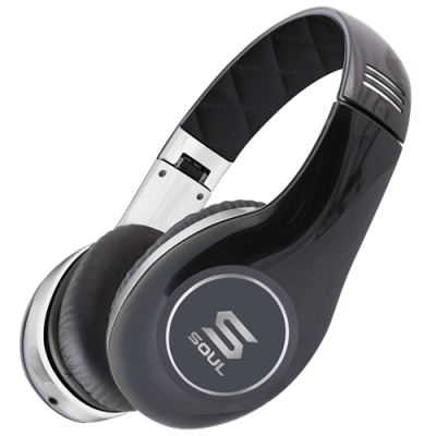 Soul By Ludacris SL150CB PRO HI-DEFINITION ON-EAR HEADPHONES-Black