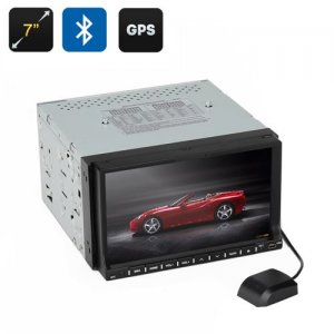 7 Inch 2 DIN Car Head Unit - GPS, Win CE, Touch Screen, 90 Degree Tilting Screen, Bluetooth, 3D Interface
