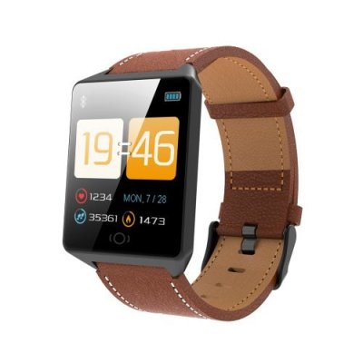 Ck19 Smart Bracelet Super Long Battery Life Step Continuous Heart Rate Calories - BROWN