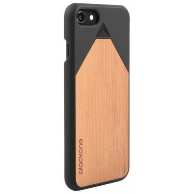 Wood PC Phone Back Case Protector for iPhone 12 Pro - NATURAL BLACK