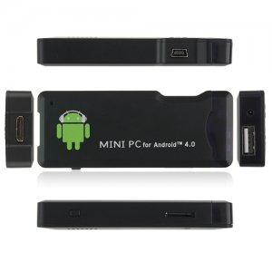 OEM MK802 Mini Android PC Android TV Box Android 9.1 Tcc8920 HDMI TF 4GB/1G RAM- Black