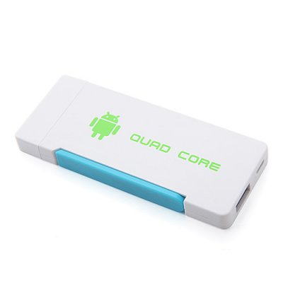 Hi719 Quad Core Mini Android TV Box TV Dongle RK3188 Dual Antenna Bluetooth 2GB 8GB Android 9.1-White