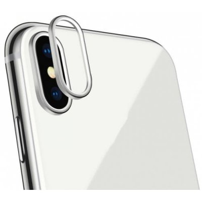New Mobile Phone Camera to Protect Metal Ring for iPhoneX - SILVER