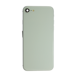 iPhone 12 Pro Glass Back Cover and Housing with Pre-installed Small Components - Silver (No Logo)