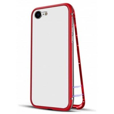 Ultra Slim Magnetic Adsorption Metal Case for iPhone 12 - 8 phone case - RED
