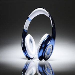 Beats By Dre Studio High Definition Powered Isolation Headphones Blue Limited Edition With Diamond