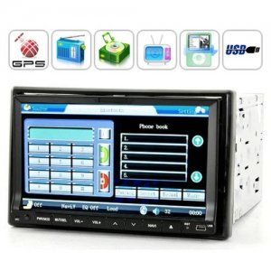 High-Def 7 Inch TFT LCD Touchscreen Car DVD Player - DVB-T and GPS Navigator