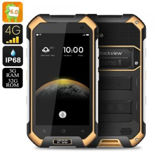 Blackview BV6000 Android 9.1 Smartphone - IP68, 2Ghz Octa Core CPU, 3GB RAM, Dual SIM 4G, NFC, OTG, Atmospheric Sensor (Orange)