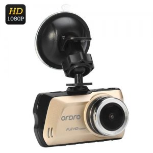Ordro D1 1080P Car DVR - 3 LCD Inch Display, 150 Degree Wide Angle, G-Sensor, H.264 Video Compression