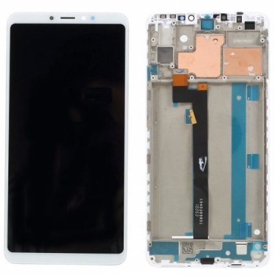 Xiaomi LCD Screen Digitizer Assembly with Frame for Xiaomi Mi Max 3 - WHITE